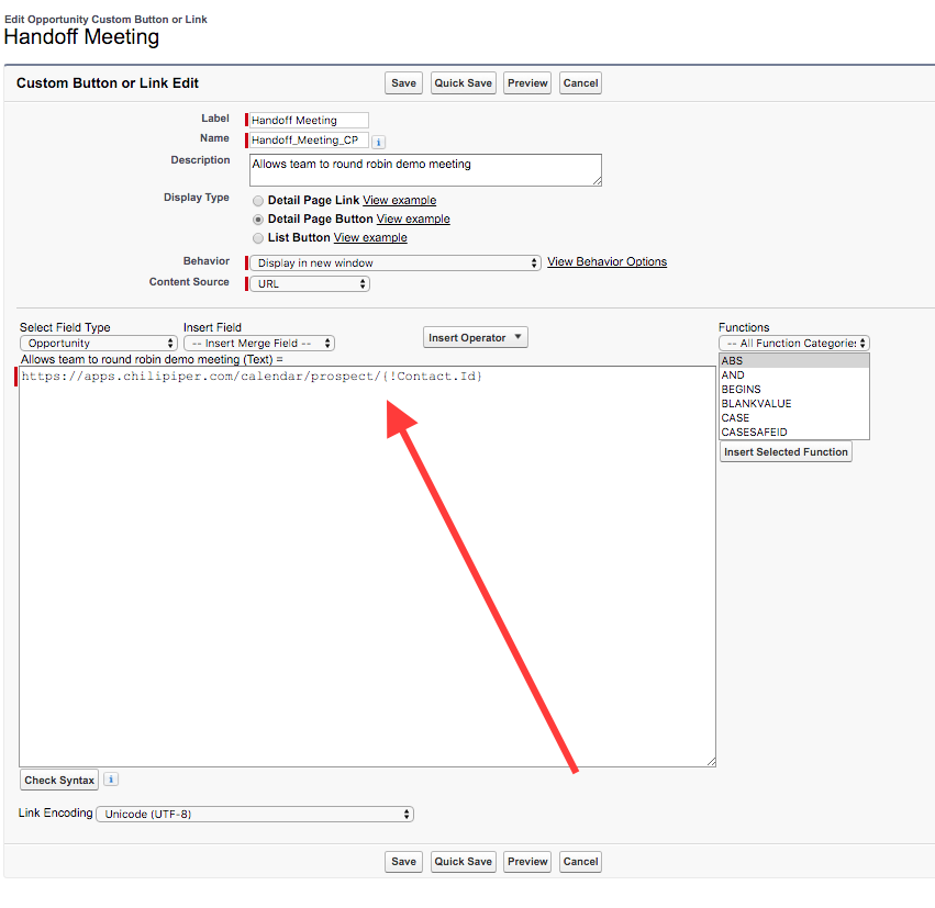 Adding A Custom Button In Salesforce For Meeting Handoffs Chili