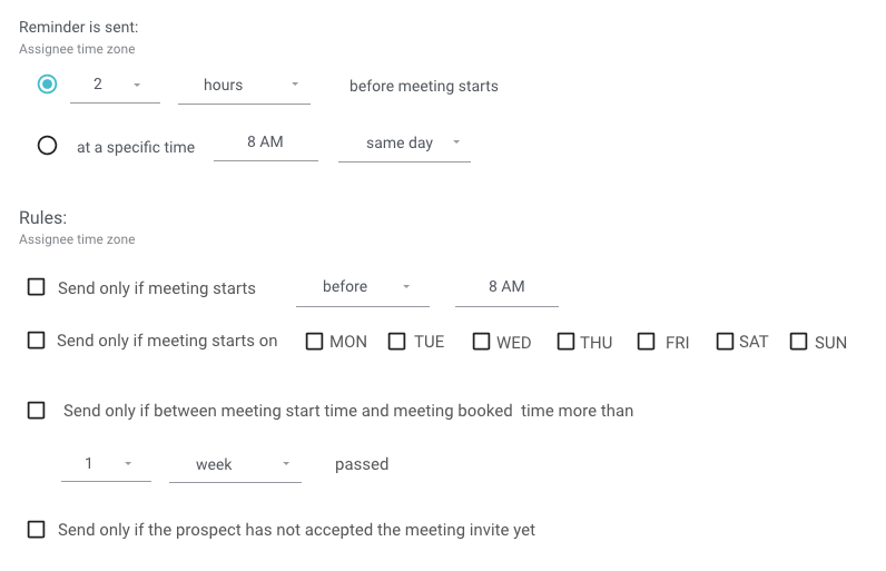 Email reminders before a meeting starts