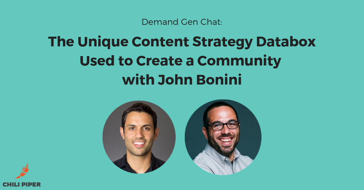 The Unique Content Strategy Databox Used to Create a Community with John Bonini