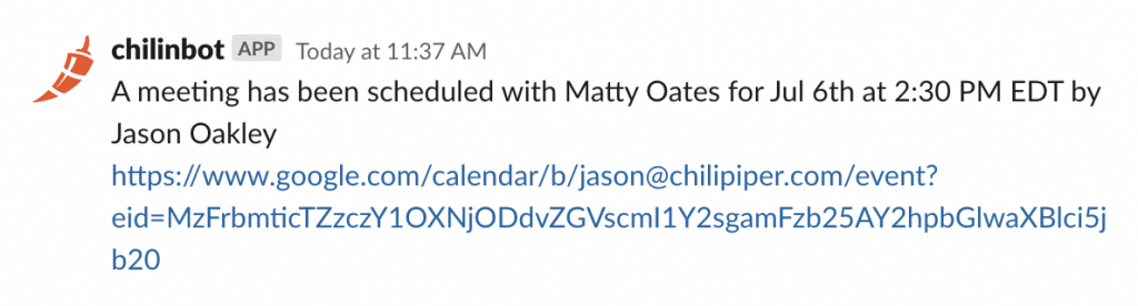 A meeting has been scheduled with Matty Oates for Jul 6th at 2:30 PM EDT by Jason Oakley.