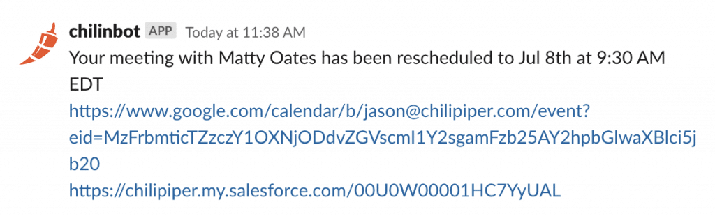 Your meeting with Matty Oates has been rescheduled to Jul 8th at 9:30 AM EDT